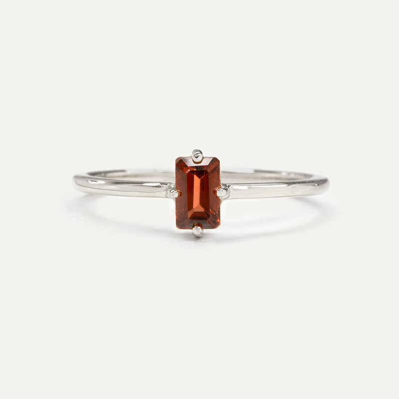 Petite Emerald Cut Gemstone Ring (Multiple Gemstone Options)