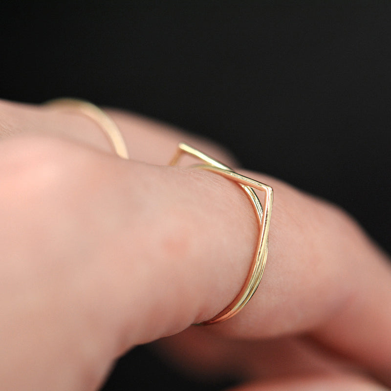 Gold Cat Ring Rings - A Gilded Leaf jewelry