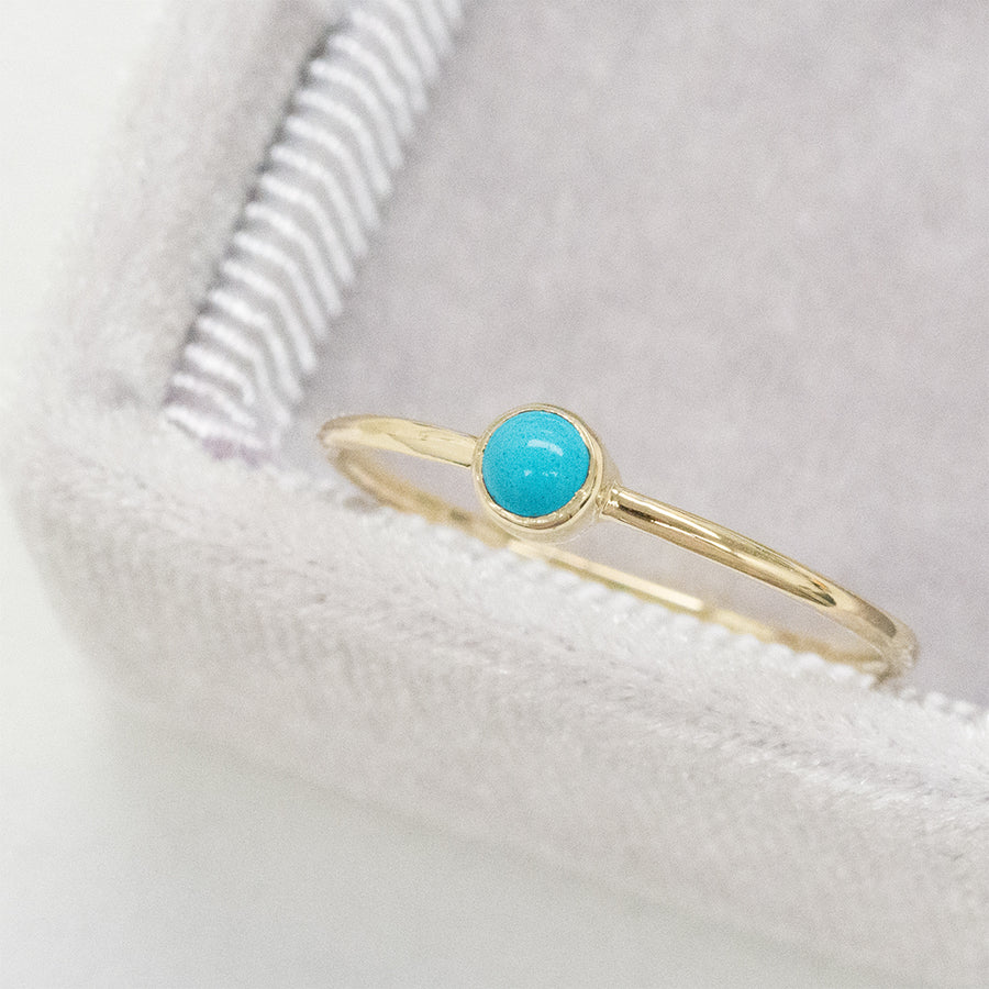 Bezel Set Turquoise Ring Rings - A Gilded Leaf jewelry