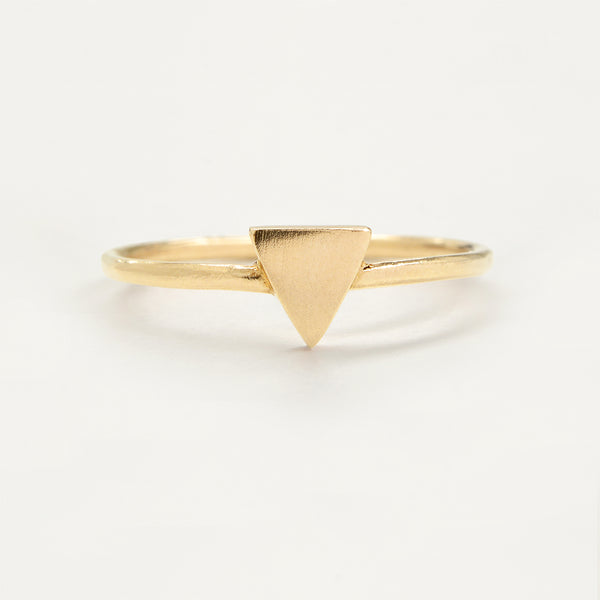 Triangle Gold Ring Rings - A Gilded Leaf jewelry