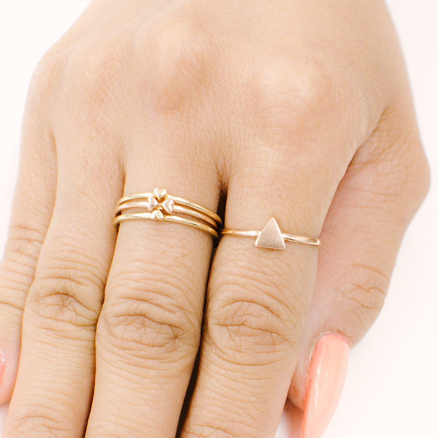 Heart to Heart Ring Set Rings - A Gilded Leaf jewelry