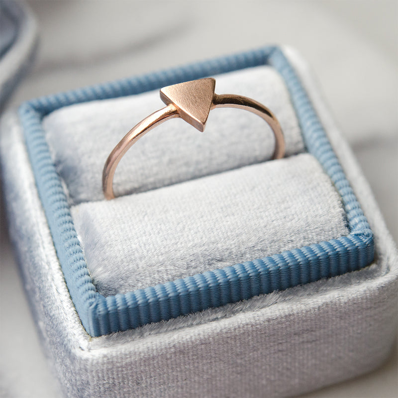 Triangle Gold Ring - Sample