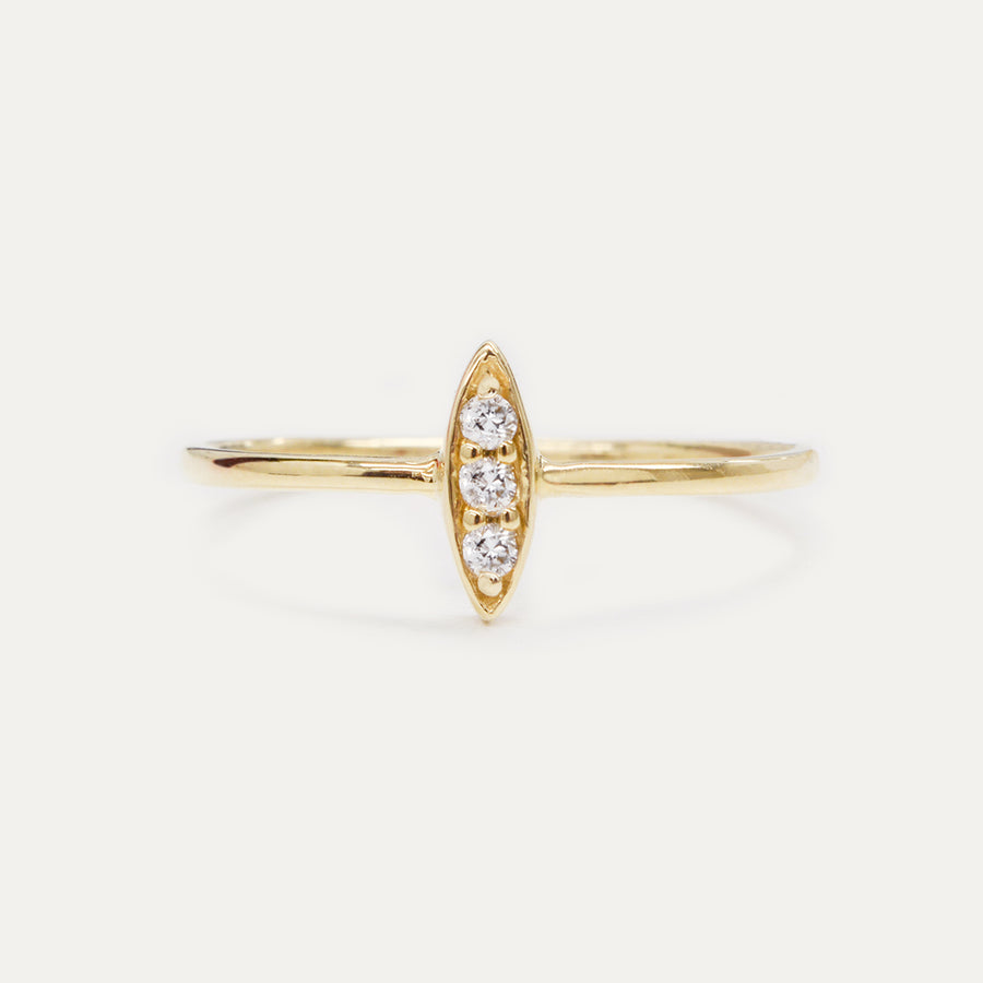 La Belle Diamond Ring Rings - A Gilded Leaf jewelry