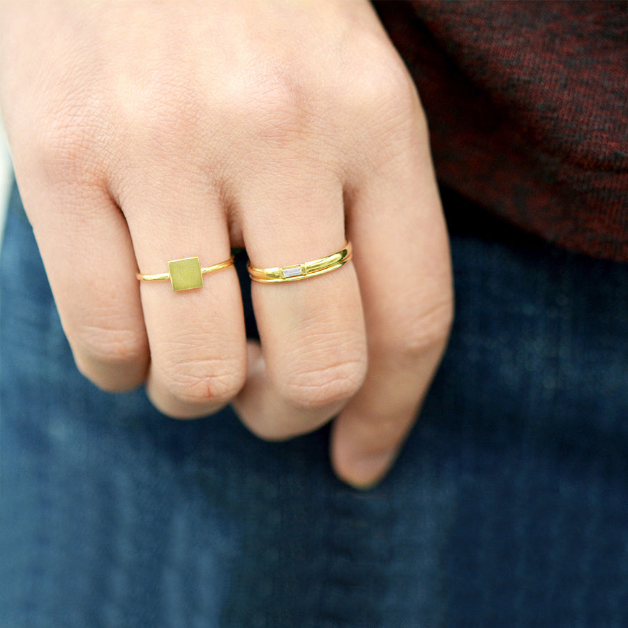 Loey Square Ring Rings - A Gilded Leaf jewelry