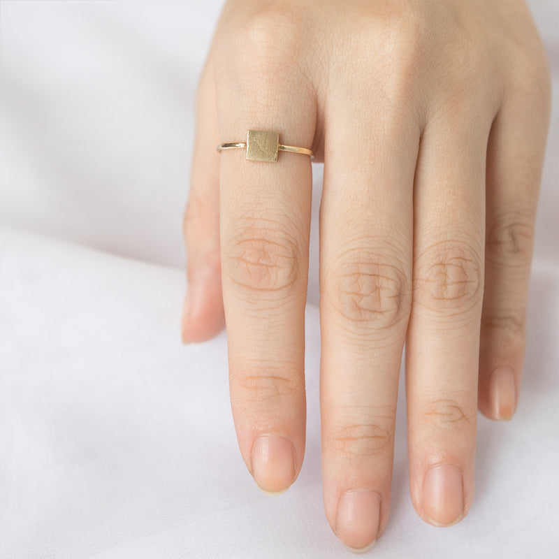 Gold Square Ring - Sample
