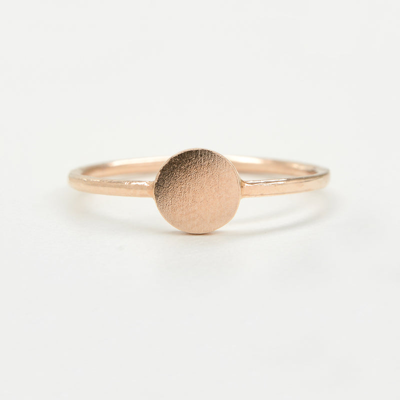 Solid Circle Minimal Ring Rings - A Gilded Leaf jewelry