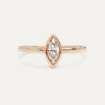 Marquise Diamond Ring 0.48CT - Rose Gold One of a Kind - A Gilded Leaf jewelry