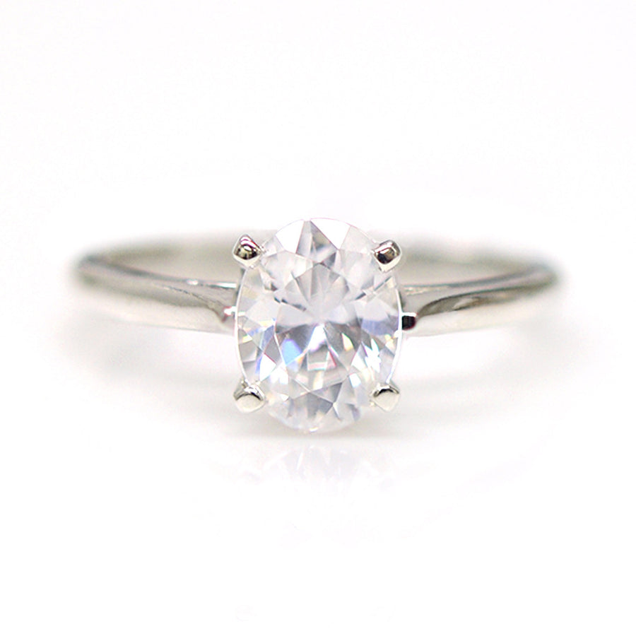 Bradbury Ring - White Topaz