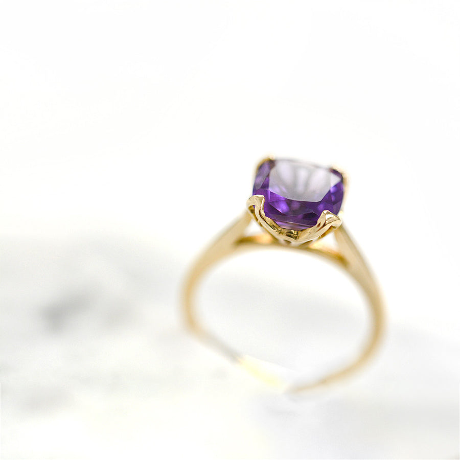 Remi Amethyst Ring Rings - A Gilded Leaf jewelry