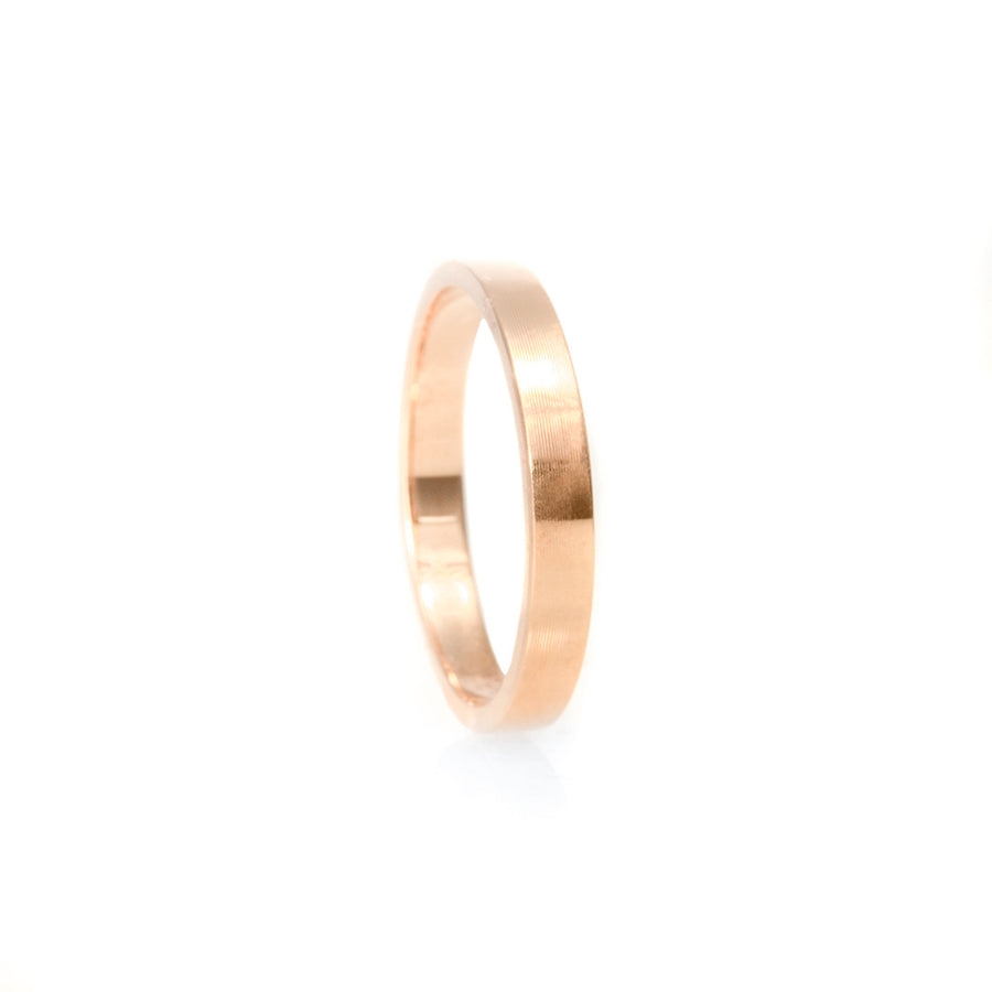 Classic Flat Band 2.75MM - Rose Gold Rings - A Gilded Leaf jewelry