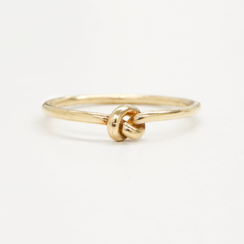 Mini Love Knot Ring Rings - A Gilded Leaf jewelry
