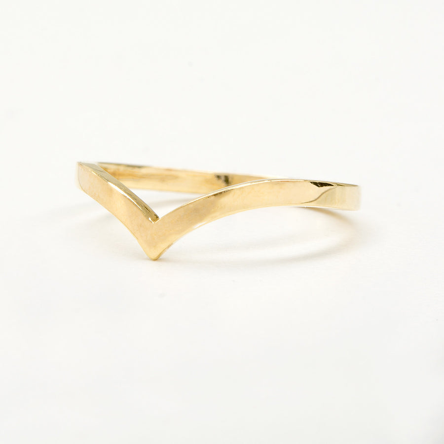 Abbey Chevron V Ring Rings - A Gilded Leaf jewelry
