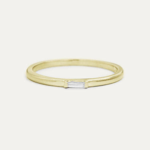 Petite Baguette Diamond Ring - Yellow Gold