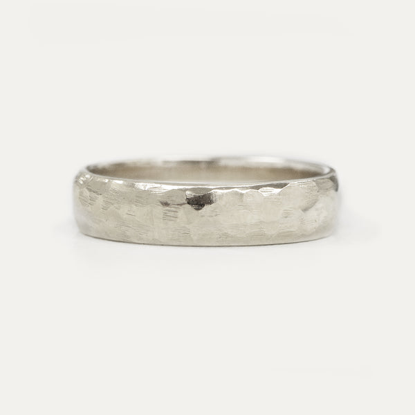 Hammered Half Round Band - 5 MM