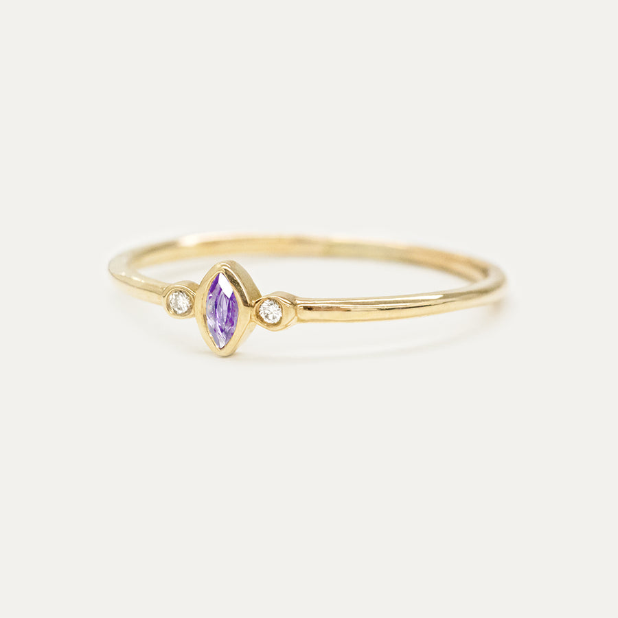 "Amethyst ""Grape"" Marquise Diamond Ring"