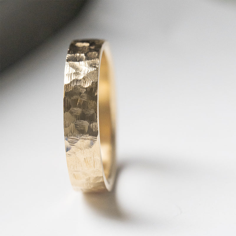 Hammered Flat Ring - 6 MM