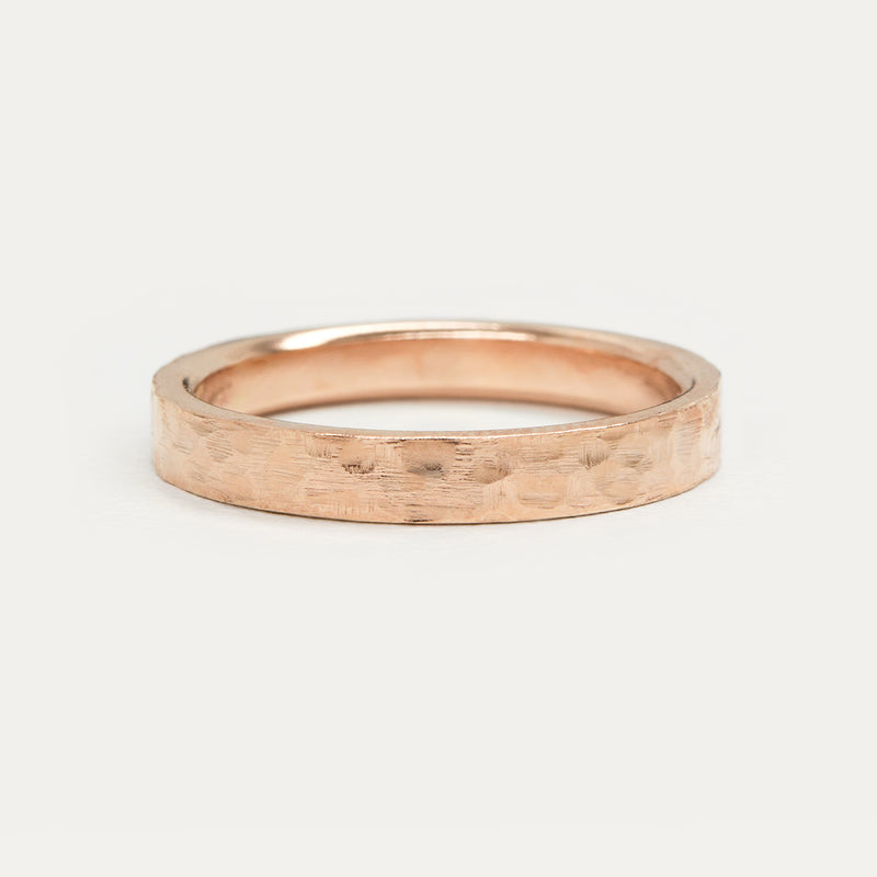 Hammered Flat Ring - 3 MM