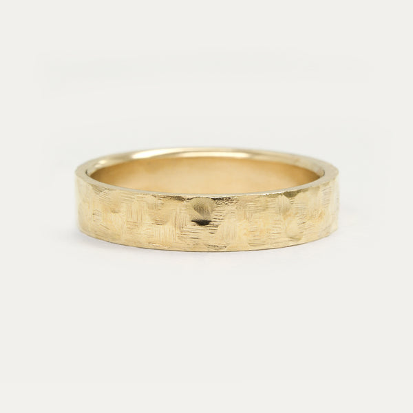 Hammered Flat Ring - 5 MM