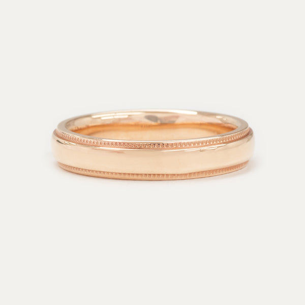 Porter Band 4MM - Rose Gold Rings - A Gilded Leaf jewelry