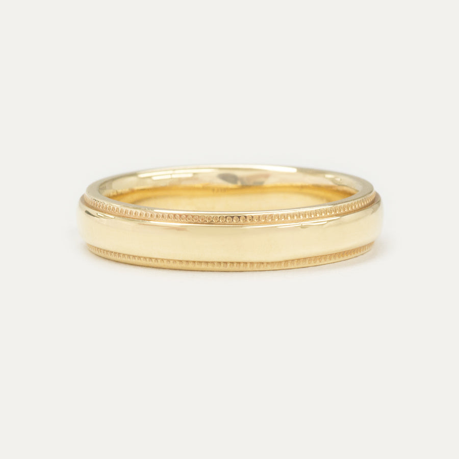 Porter Band 4MM - Yellow Gold Rings - A Gilded Leaf jewelry