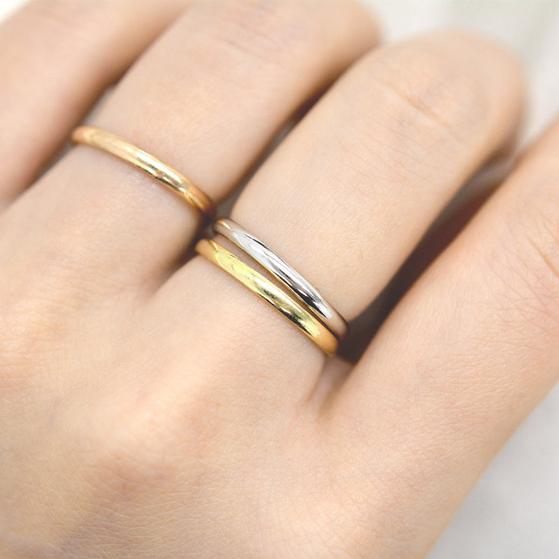 Classic Gold Rounded Band 2MM - Yellow Gold Rings - A Gilded Leaf jewelry