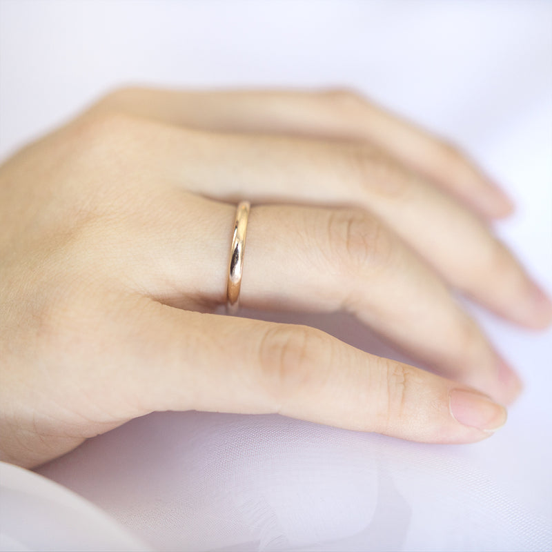 Classic Gold Half Round Band - 2 MM