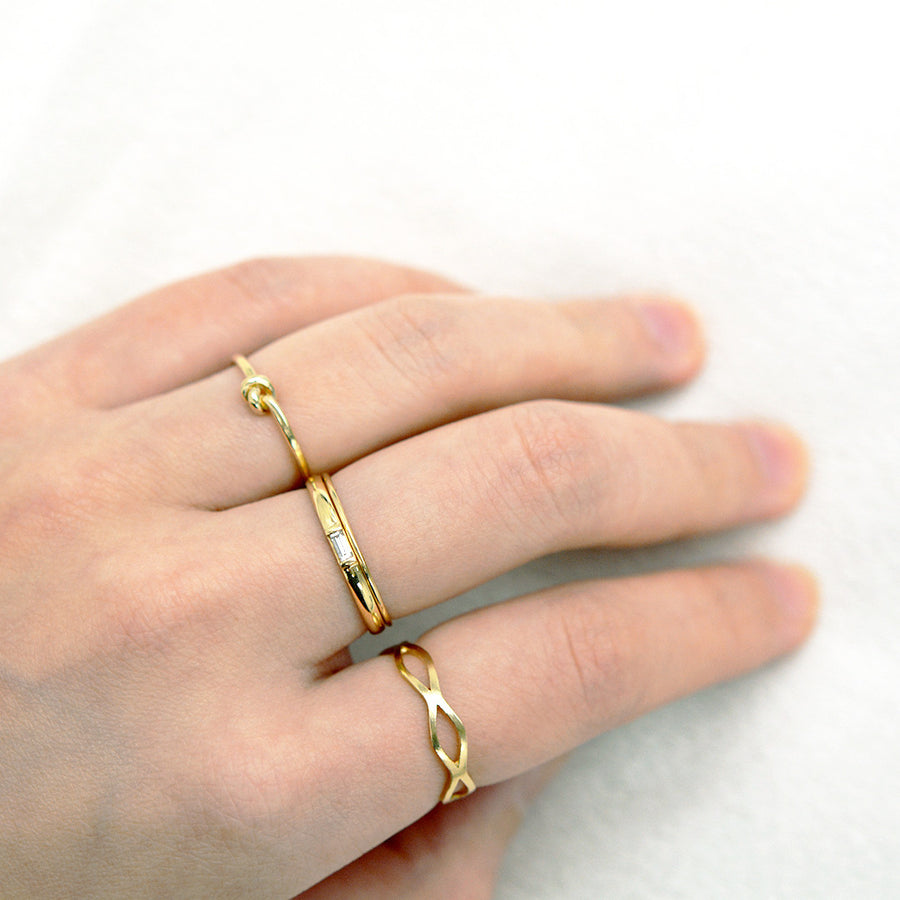 Double Wave Ring Rings - A Gilded Leaf jewelry