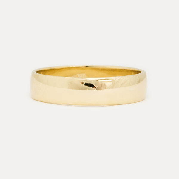 Classic Half Round Wedding Band 5.25MM Rings - A Gilded Leaf jewelry