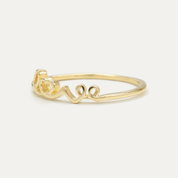Gold Love Ring - Sample