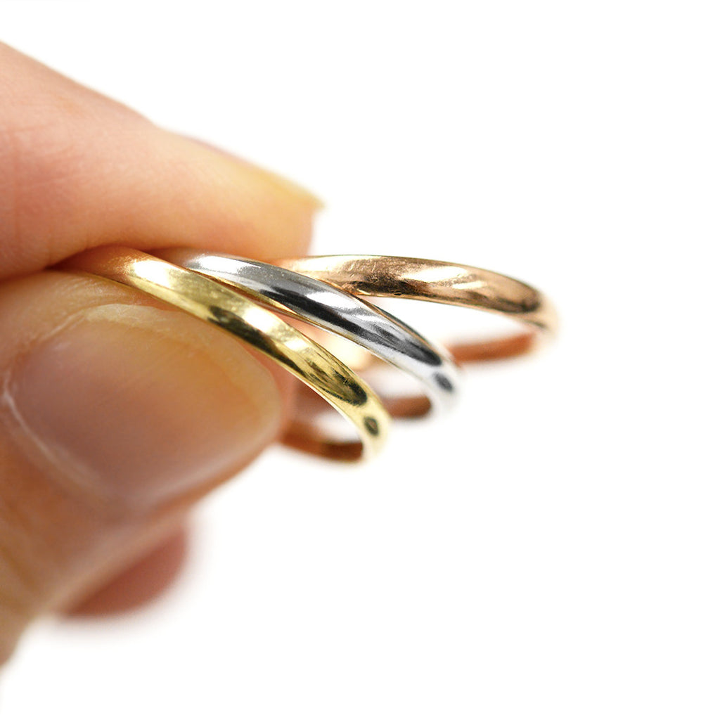Classic Gold Rounded Band 2MM - White Gold Rings - A Gilded Leaf jewelry