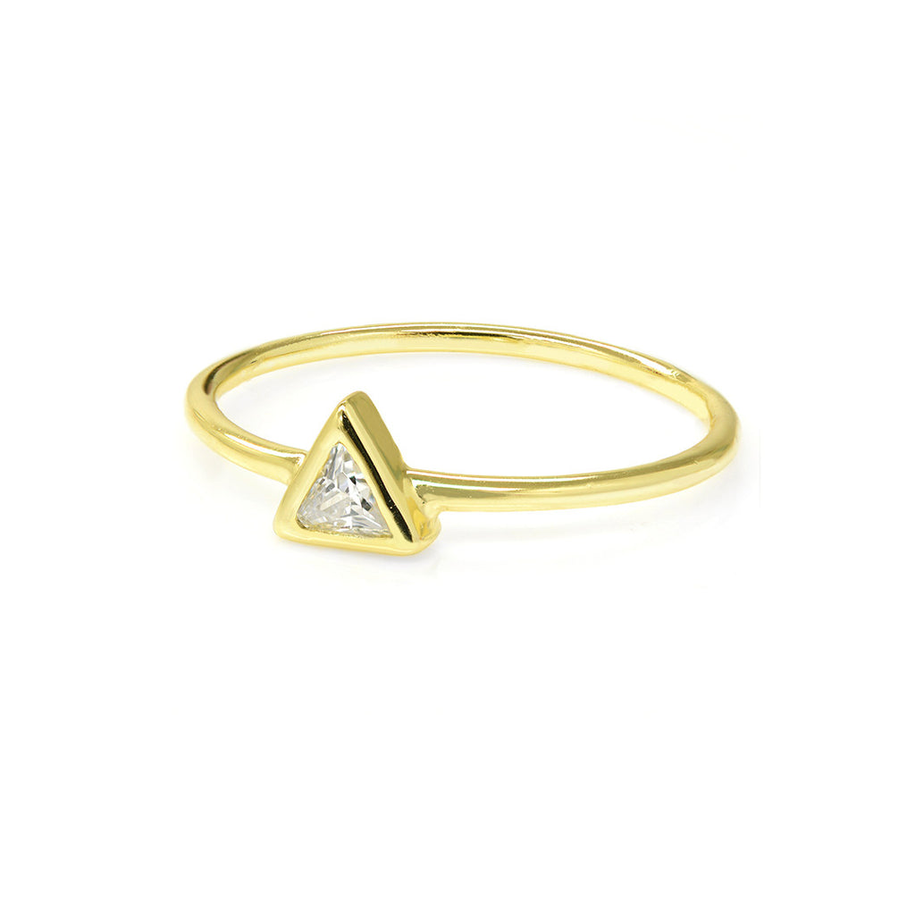 "Triangle ""Geometric"" Ring - Sterling Silver Rings - A Gilded Leaf jewelry"