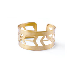 Arrow Cuff - Brass Bracelet - A Gilded Leaf jewelry