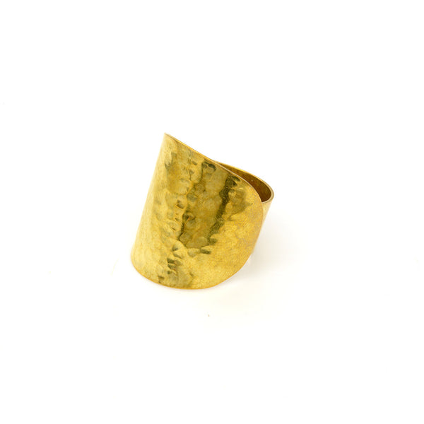 Hammered Brass Ring Rings - A Gilded Leaf jewelry