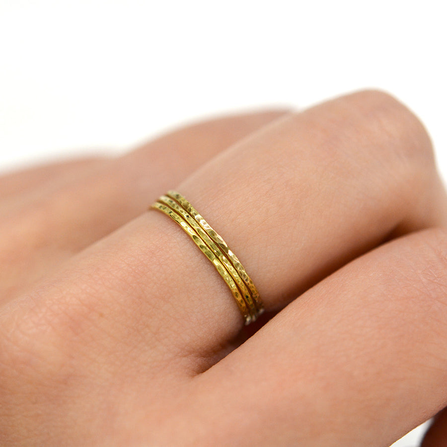 Unity Rings - Set of 3 Rings - A Gilded Leaf jewelry