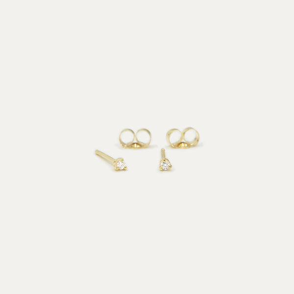 Petite Diamond Studs Earrings - A Gilded Leaf jewelry