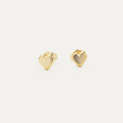 Beveled Heart Earrings