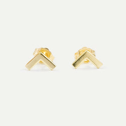 Tiny Chevron Stud Earrings Earrings - A Gilded Leaf jewelry