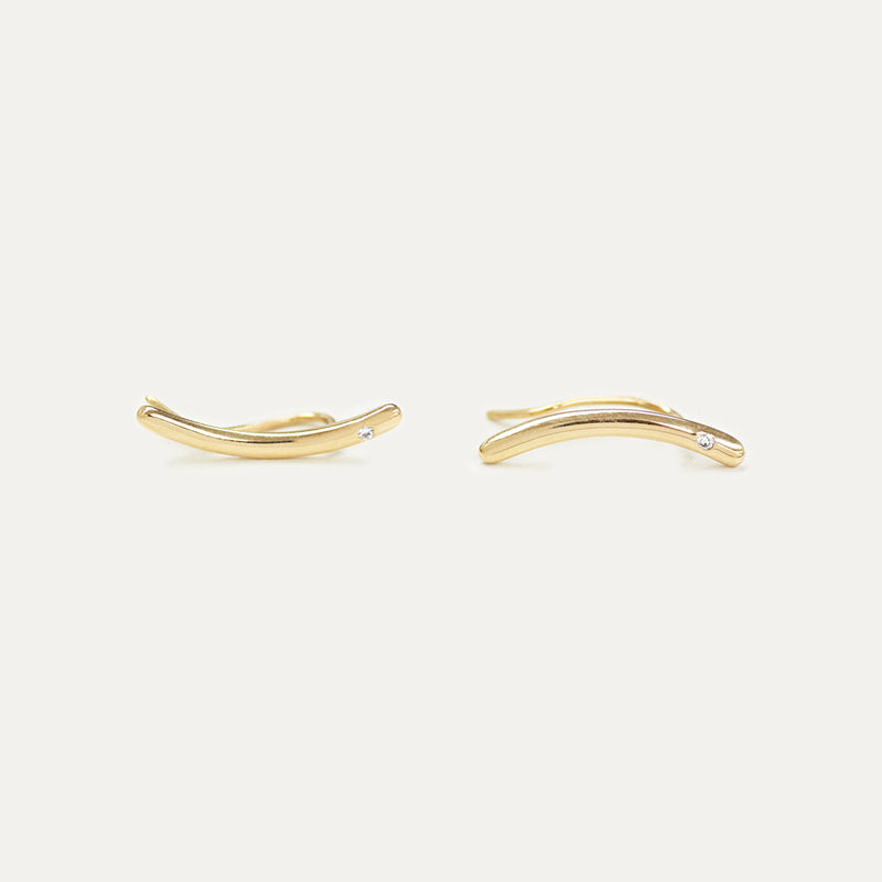 Diamond Gold Essential Ear Climbers