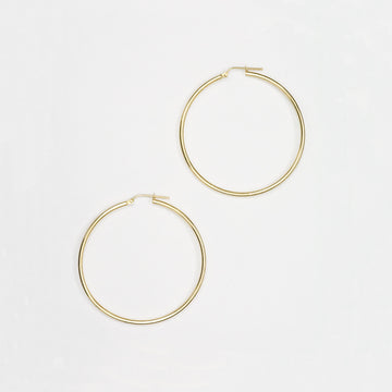 Gold Hoop Earrings Earrings - A Gilded Leaf jewelry