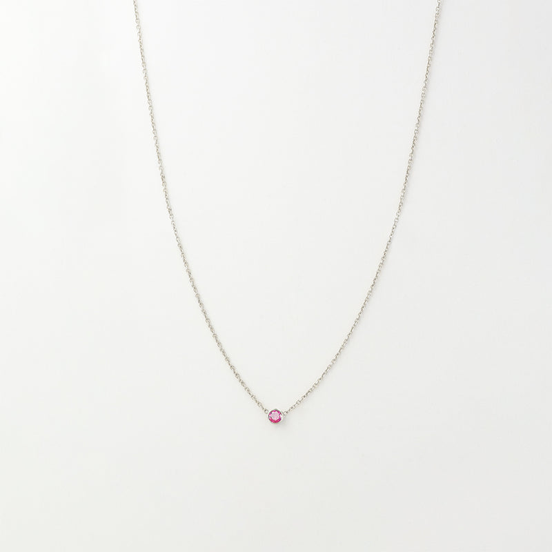 Solitaire Rhodolite Garnet Necklace
