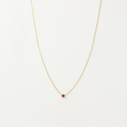 Solitaire Garnet Necklace