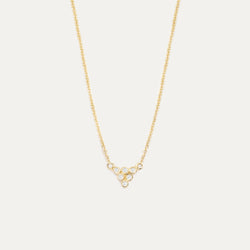 Dainty Diamond Pyramid Bezel Necklace Necklace - A Gilded Leaf jewelry