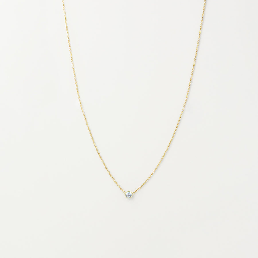 Solitaire Aquamarine Necklace