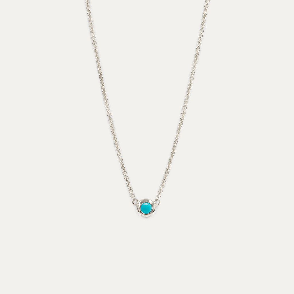 Solitaire Turquoise Necklace Necklace - A Gilded Leaf jewelry