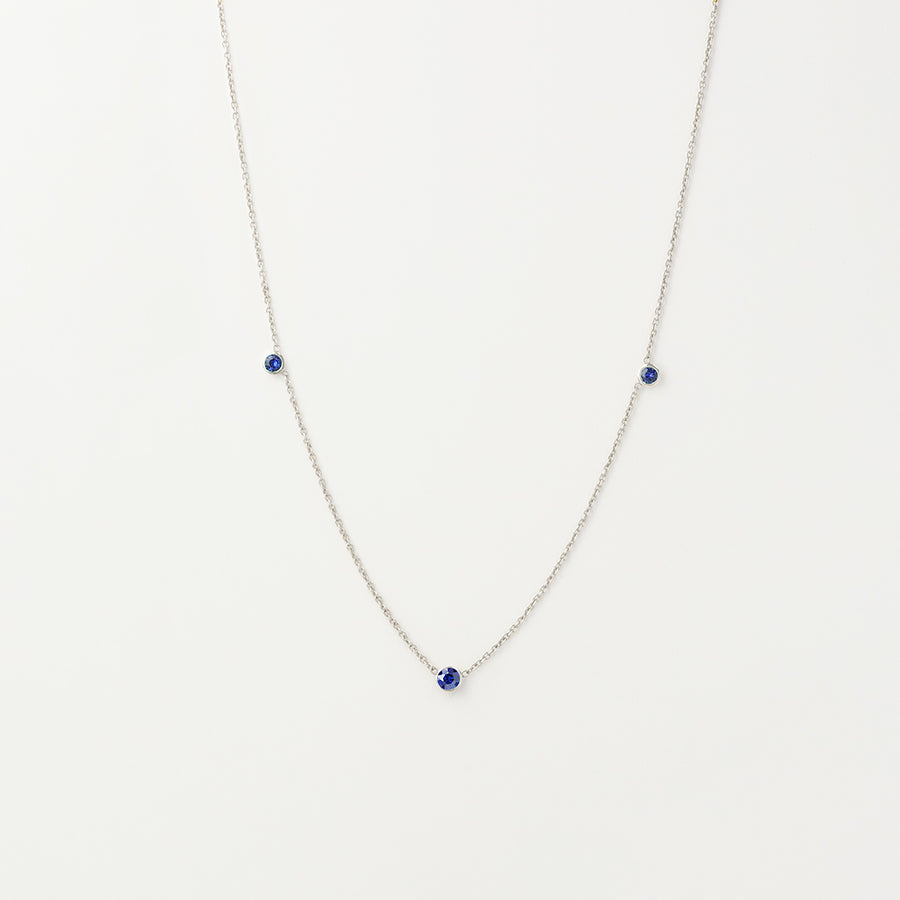 Orion's Blue Sapphire Necklace Necklace - A Gilded Leaf jewelry