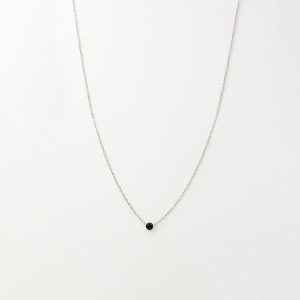 Solitaire Black Diamond Necklace
