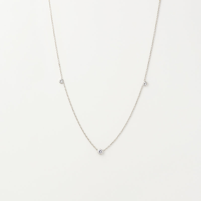 Orion's White Sapphire Necklace
