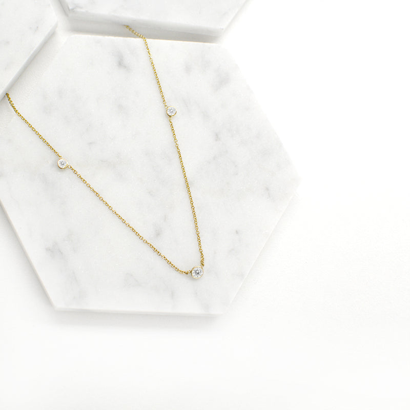 Orion's White Sapphire Necklace Necklace - A Gilded Leaf jewelry