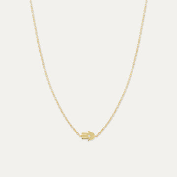 Hamsa Diamond Necklace Necklace - A Gilded Leaf jewelry