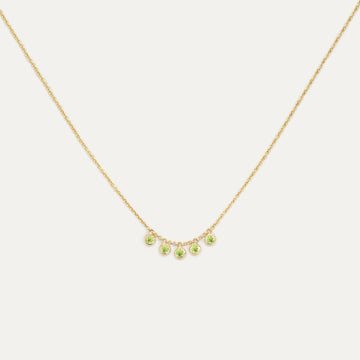 Five Bezel Peridot Necklace Necklace - A Gilded Leaf jewelry